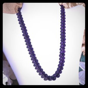 """Jewelry - Amethyst Graduated Bead Necklace 18"""""""